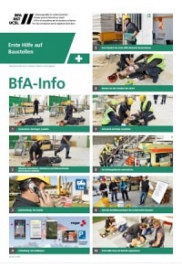 ** BfA Info - Erste Hilfe auf Baustellen