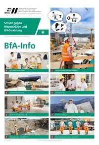 BfA Info: Schutz gegen Hitzeschläge und  UV-Strahlung