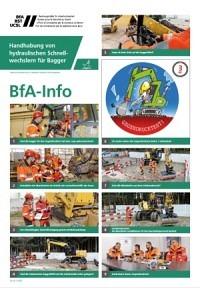 BfA Info Handhabung von hydraulischen Schnellwechslern für Bagger